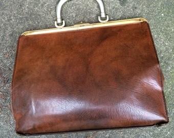 Leather Briefcase Attache Portfolio Vintage Honey Brown Laptop Bag Bon Gout Brand