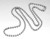 """BULK 5 Stainless Steel Ball Chain Necklaces 18"""" Ball Size 1.5mm - N218"""