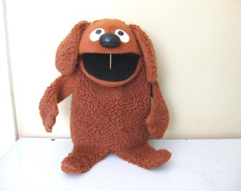 1977 Vintage Original Muppet Rowlf the Dog Hand Puppet / Jim Henson / Vintage Toys / Fisher Price / Piano Player