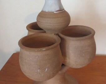 Vintage Multi Section Pottery Vessel