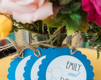 Scallloped Wedding Favor or Gift Tags