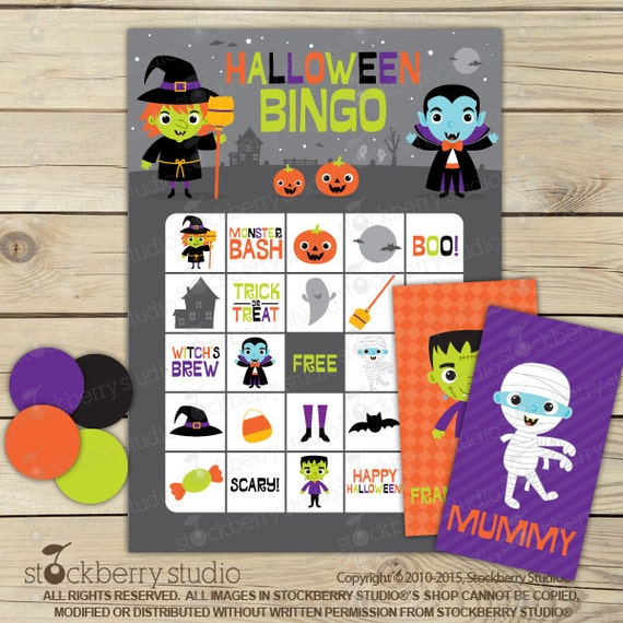 photo relating to Printable Halloween Bingo Cards called Halloween Bingo Playing cards Printable - Halloween Video games
