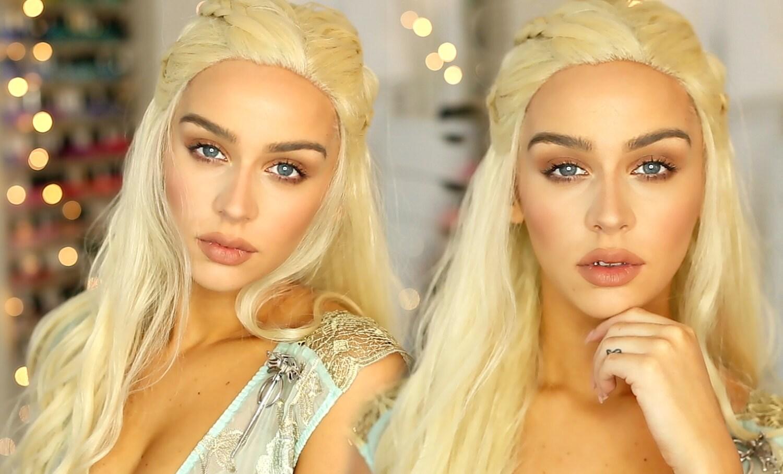 Daenerys targaryen costume wig platinum blonde wig by for Daenerys targaryen costume tutorial