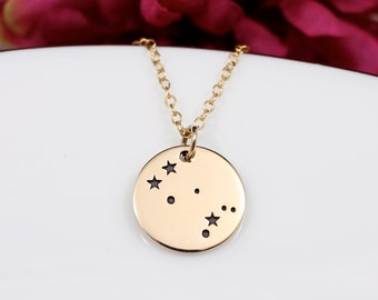 Gold Gemini Constellation Necklace, Gemini Jewelry, Gemini Zodiak Sign, Gemini Birthday Gift, Gift for Gemini, Best Friend Necklace