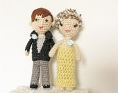 Doll Wedding Cake Topper, Bride and Groom Cake Topper, Couple Cake Topper, Portrait Cake Topper