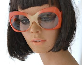 1960s Coral Oversize Sunglasses