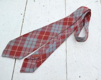 1940s Manhattan Wool Plaid Necktie