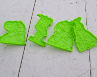 1990s Wilton TMNT Cookie Cutters, Set of 4