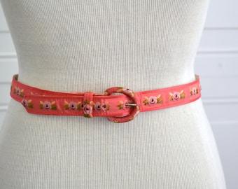 1950s Rose Ribbon Belt