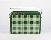 Vintage Plaid Cooler, Tartan Plaid Cooler, Bonnie Chest Cooler , 1950's Cooler, MidCentury Cooler, Old Cooler, Outdoor Cooler, Beer Cooler