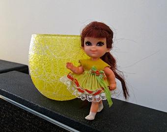 Vintage Liddle Kiddle Sheila Skediddle Doll - Mattel 1967 - Big Eye Doll - Little Kiddle Doll