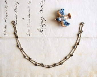 Vintage Silver Gilded Chain Necklace