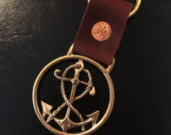 Nautical anchor Keychain- hold the keys for your ship, boat, or submarine