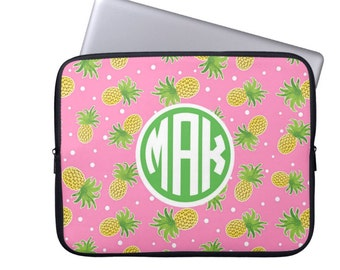 Personalized Laptop Sleeve - Design your Own -  Pineapple Laptop Sleeve- Monogrammed MacBook Sleeve, Monogram Laptop Case
