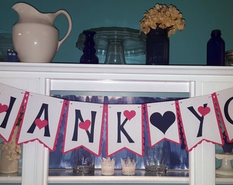 Thank You Banner with Heart Spacer