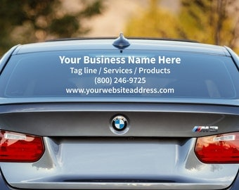 Custom Vinyl Car Decal Business Decals Vehicle Window - Custom car decals businesswindow decals
