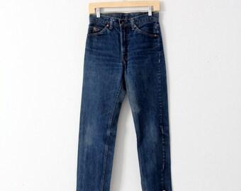 FREE SHIP  vintage 70s Levis 505 denim jeans, 29 x 29