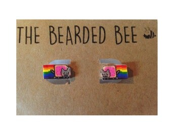 Nyan Cat Handmade Stud Earrings