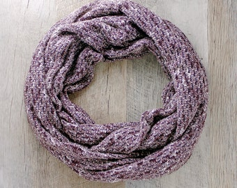 Brown Sweater Knit Infinity Scarf