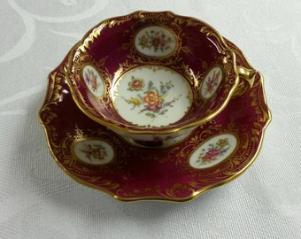 Dresden Tea Cup and Saucer; 19th Century By Ambrosius Lamm circa 1890's     #DSC