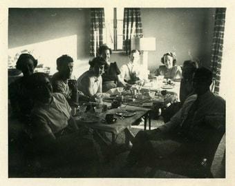 "Vintage Photo ""In the Spotlight"" Family Snapshot Photo Antique Photo Black & White Photograph Found Photo Paper Ephemera Vernacular - 146"