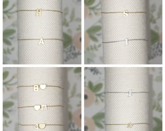 Initial Bracelet | Couple's Initials | Name Bracelet | Custom Initials | Monogram | Children's Initials | Mother's Bracelet