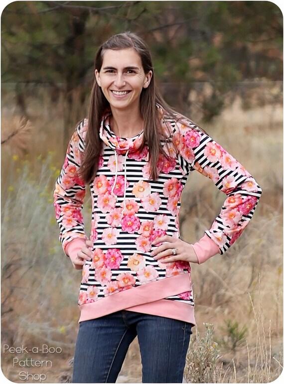 Pemberley Pullover PDF Sewing Pattern for Women: sweatshirt