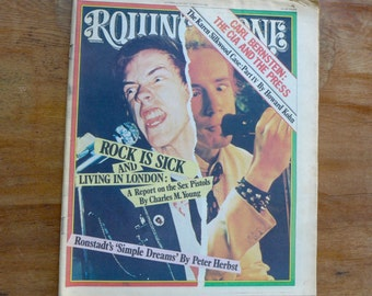 1977 Sex Pistols Issue of Rolling Stone Magazine #250 Rock n Roll Newspaper Covers 77 Punk