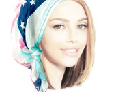 Weightless Navy Blue Pink Black Gray White Head Scarf Pre tied Bandana Hair Snoods Tichel Light As A Feather Collection!  l002 - l004