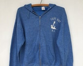 SALE Vintage Heather Blue Cape May New Jersey Hoodie Sweatshirt