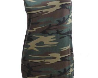 Rad Camo Reshaped T-Shirt / Tunic / Mini Dress sz. M / L
