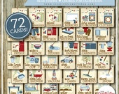 BUNDLE Chore Cards | HUGE Chore Card Collection | Full Set | Blue or Boy Theme | 72 Printable Cards | Instant Download | Chores | Bundle