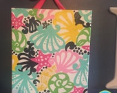 Single 11x14 hand painted gallery canvases inspired by Lilly Pulitzer Chiquita Bonita