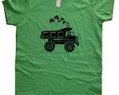 Shamrock Kids TShirt - St Patricks Day Truck Shirt - Boy or Girl - Dump Truck Tee Shirt Top - 7 Colors - Kids Tshirt 2T, 4T, 6, 8, 10, 12
