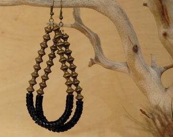 Adaramola tribal  earrings - bespoke - artisan jewelry - ethnic jewelry - african jewelry - tribal jewelry - african earrings - jewelry