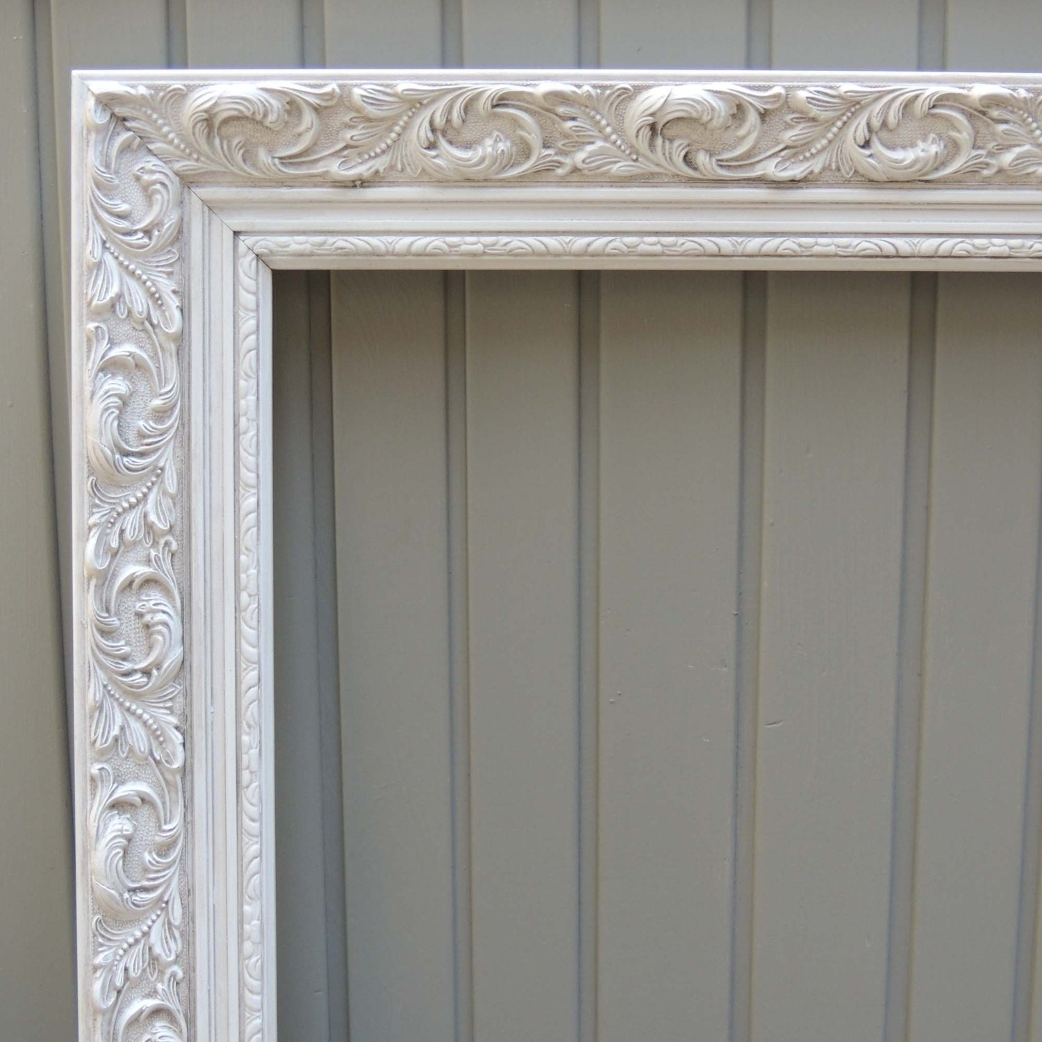 white picture frames 24x36 picture frame ornate picture. Black Bedroom Furniture Sets. Home Design Ideas