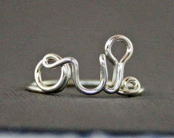 Oui Ring Yes Ring Solid 925 Sterling Silver