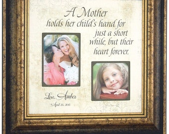 Personalized Picture Frame Mother of the Bride Mother of the Groom Wedding Gift Mom Daughter Picture Frame A MOTHER HOLDS her child 16x16