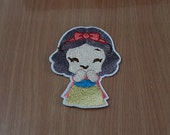 """Snow White Iron on Patch Embroidered size 2 3/8"""" x 3"""""""