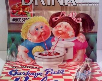Vintage Topps Garbage Pail Kids Poster- Garbage Pail Cola
