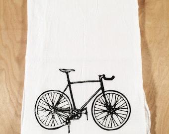 SALE: Bicycle Screen Printed Tea Towel