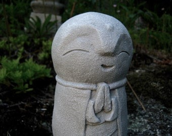 Jizo Statue, Buddha, Concrete Statues, Buddhist Protector of Children, Jizo Figure, Concrete Figure, Cement Garden Decor, Garden Statue Art