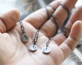 Luna Light . Sterling Silver crescent moon necklace.