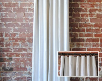 "120"" Solid Panel with Knife Pleat- Custom Curtains - Extra Long Curtains - 28 color options - Custom Drapes"