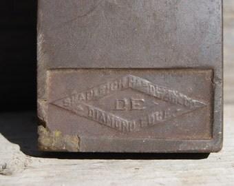 Shapleigh Hardware Co. Diamond Edge Solid Stone Knife Sharpener, Vintage Razor Sharpening Stone, Whet Stone