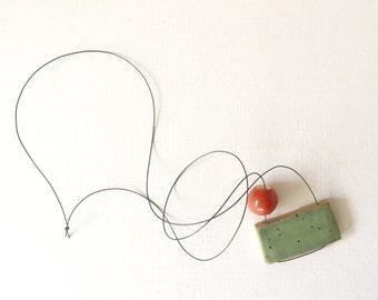 THE ODD COUPLE ceramic bead necklace