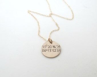 Personalized Bridesmaids Necklace - Bridesmaids Gift set 2 3 4 5 6 7 8 - Coordinates Necklaces - Bridesmaid Jewelry - Gold Necklace