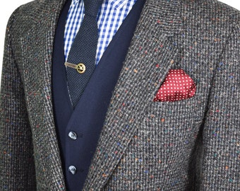 44R Speckled Tweed Vintage Blazer