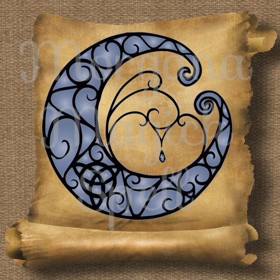 Triquetra Moon  Royalty Free Clip Art