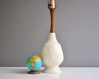 Mid-Century Ceramic Circles Table Lamp